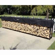 192 heavy duty woodhaven firewood rack with cover