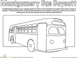 Small Picture Montgomery Bus Boycott Coloring Page Bus boycott Black history