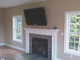 fireplace view how to install tv over fireplace room ideas and tv over the fireplace