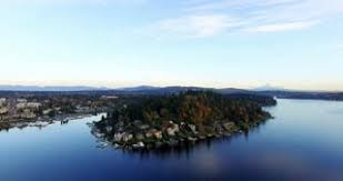 dropbox seattle office mt. subscription library moorland bellevue lake washington aerial view mt rainier background dropbox seattle office