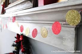 glitter paper garland
