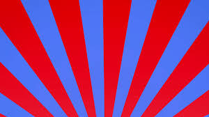 Radial Red Radial Rising Sun Burst Loop Geometric Motion Background Red Blue
