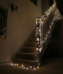 Staircase fairy lights