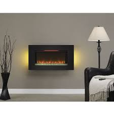 36 elysium black infrared quartz wall electric fireplace
