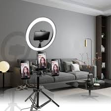 Selfie Ring Light For Makeup Us 18 98 30 Off 10inch 26cm Usb Interface Dimmable Led Selfie Ring Light Camera Phone Photography Video Makeup Lamp With Tripod Phone Clip In