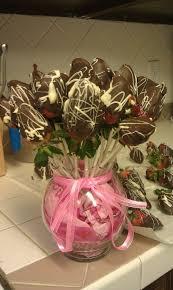 chocolate covered strawberry flower arrangement