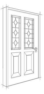 Front Door Drawing Design For A Single Wooden With Concept Ideas