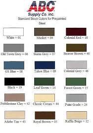 Abc Rain Gutter Color Chart In 2019 Gutter Colors Color