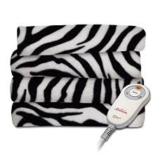 Zebra Print Electric Throw Blanket