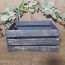 rustic gray wooden crate