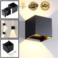 Modern <b>3W LED Wall Light</b> Bedroom Up Down Spot <b>Lighting Lamp</b> ...