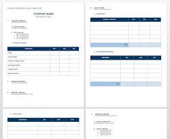 Startup Business Plan Sample Free Startup Plan Budget Cost Templates Smartsheet