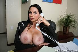 Big tits milf at work