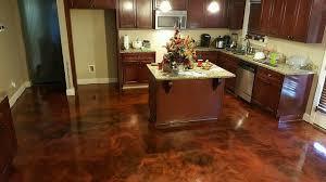 how to sn interior concrete floors