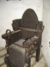 torture. Torture devices were very common in Roman Catholic Church.