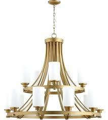 brass chandelier