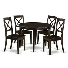 5 Pc Small Kitchen Table Set Round Table And 4 Kitchen Chairs