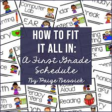 How To Fit It All In A First Grade Schedule Paige Bessick