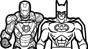 Small Picture Iron Man and Batman Coloring Book Coloring Pages Kids Fun Art