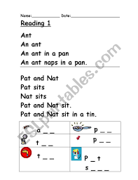 Worksheets are literacy teaching guide phonics, letter game word list teacher notes sound, letters sounds and pictures matching game, phonics s. Phonics Reading 1 Esl Worksheet By Clare Baldacchino