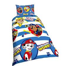 nickelodeon childrens kids paw patrol pawsome work reversible quilt duvet cover bedding set
