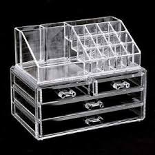 image is loading acrylic cosmetic organizer 4 drawers drawer makeup case