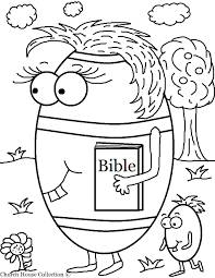 Children S Christian Easter Coloring Pages With Happy For Kids Eggs