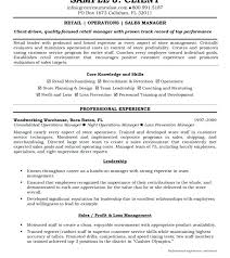 Operations Manager Resume Sample Sales Templates Senior Bank Free ...