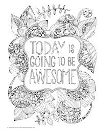 Motivational Doodle Art Coloring Pages Free Colouring Word