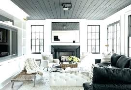 decorating details white walls black trim modern living room dark ceilings and tri