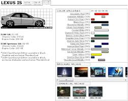 2012 Lexus Color Chart Paint Code Information For 1st And 2nd Gen Page 4 Lexus