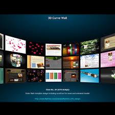 Flash Website Templates Flash Template 24 24d Curve Wall 20