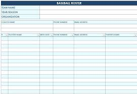 Little League Roster Template Baseball Lineup Template Studenthost Me