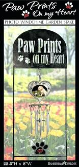 pet memorial garden stake wind chimes paw prints on my heart dog gift cat sympathy g