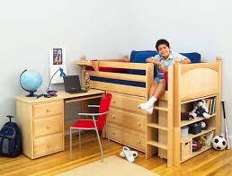 maxtrix kids twin low loft bed with desk