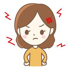 イライラ・怒っている女性のイラスト | 無料のフリー素材 イラストエイト