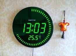 small digital wall clock clocks enchanting battery operated wall clock small battery powered led clock digital