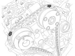 hyundai azera timing chain repair procedures timing system before removing the timing chain mark the rh lh timing chain an identification based on the location of the sprocket because the identification mark