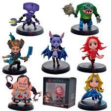 2016 new 8pcs lot cute mini dota 2 game action figure toys pvc