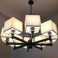 chandelier with fabric shades oriental 8 light rectangular shade large modern chandeliers regarding brilliant household decor