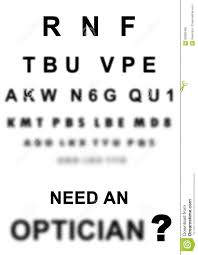 Blurry Eye Test Chart Eye Exam Chart Stock Illustration Illustration Of
