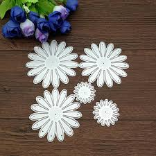 <b>5pcs</b>/<b>Set</b> Craft Dies <b>Flower</b> Decor <b>Metal Cutting</b> Dies Scrapbooking ...