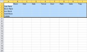 Creating A Id Chart For All Blocks To Have Stair And Slab