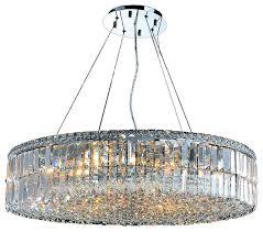 cascade 18 light clear crystal round chandelier chrome 32