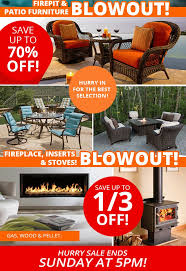 Blowout Clearance Sale on Patio Furniture Fire Pits Hot Tubs