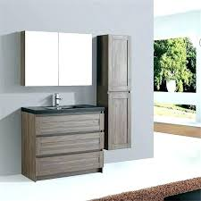 vanity stained bathroom gray dark brown finish inch double