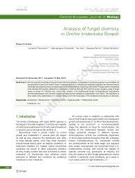 (PDF) Analysis of fungal diversity in Orchis tridentata Scopoli