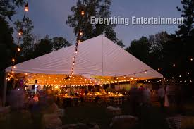 beautiful rustic wedding lights. String Lighting Completed The Look Of This Rustic Theme Wedding Tent Beautiful Lights
