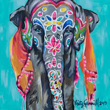 painted elephant 1