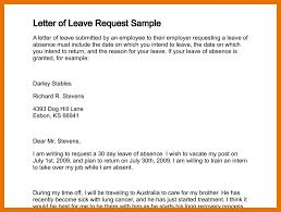 reason for leaving examples leave of absence letters sample fresh 10 permission letter for